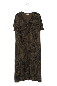 Palm Springs | SWING - Dwell and Slumber house dress gold snaps