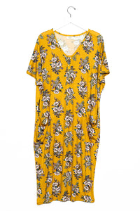 Posie | COCOON - Dwell and Slumber house dress gold snaps