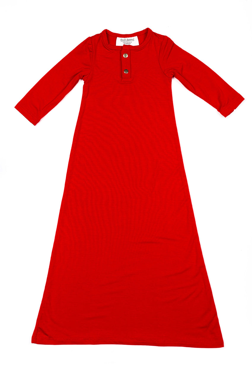 Scarlet | BABY - Dwell and Slumber house dress gold snaps