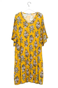 Posie | CAFTAN - Dwell and Slumber house dress gold snaps