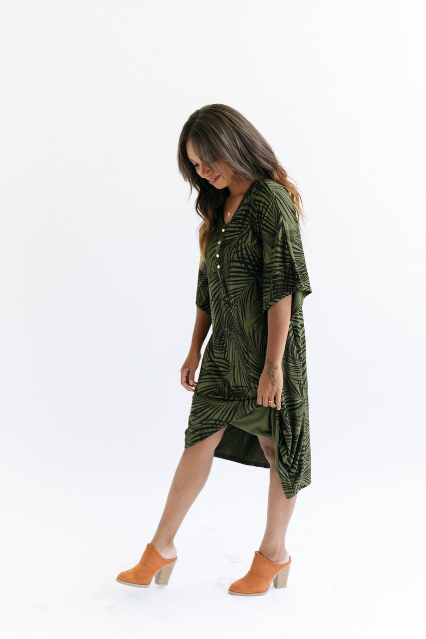 Palm Springs | CLASSIC - Dwell and Slumber house dress gold snaps