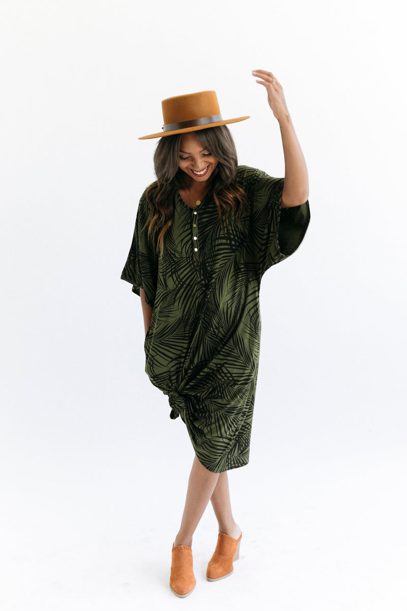Palm Springs | CAFTAN - Dwell and Slumber house dress gold snaps