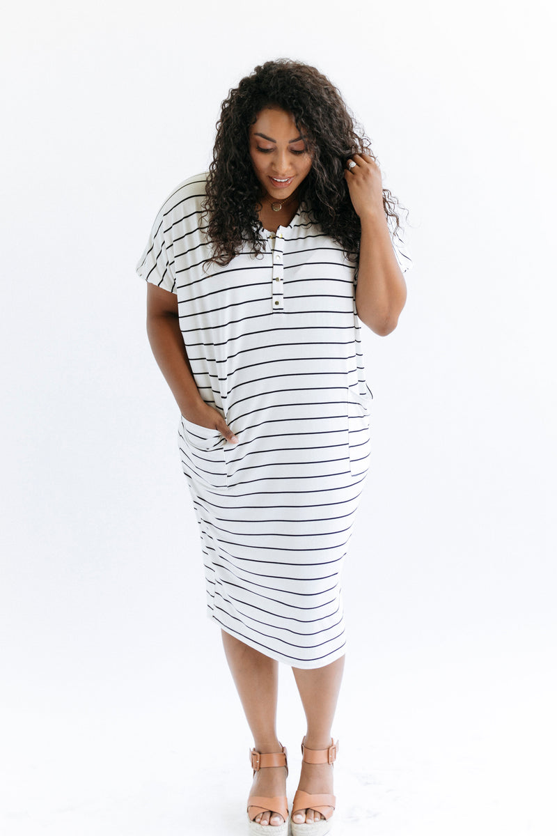 Breton | COCOON - Dwell and Slumber house dress gold snaps