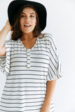 Breton Stripe | CLASSIC - Dwell and Slumber house dress gold snaps