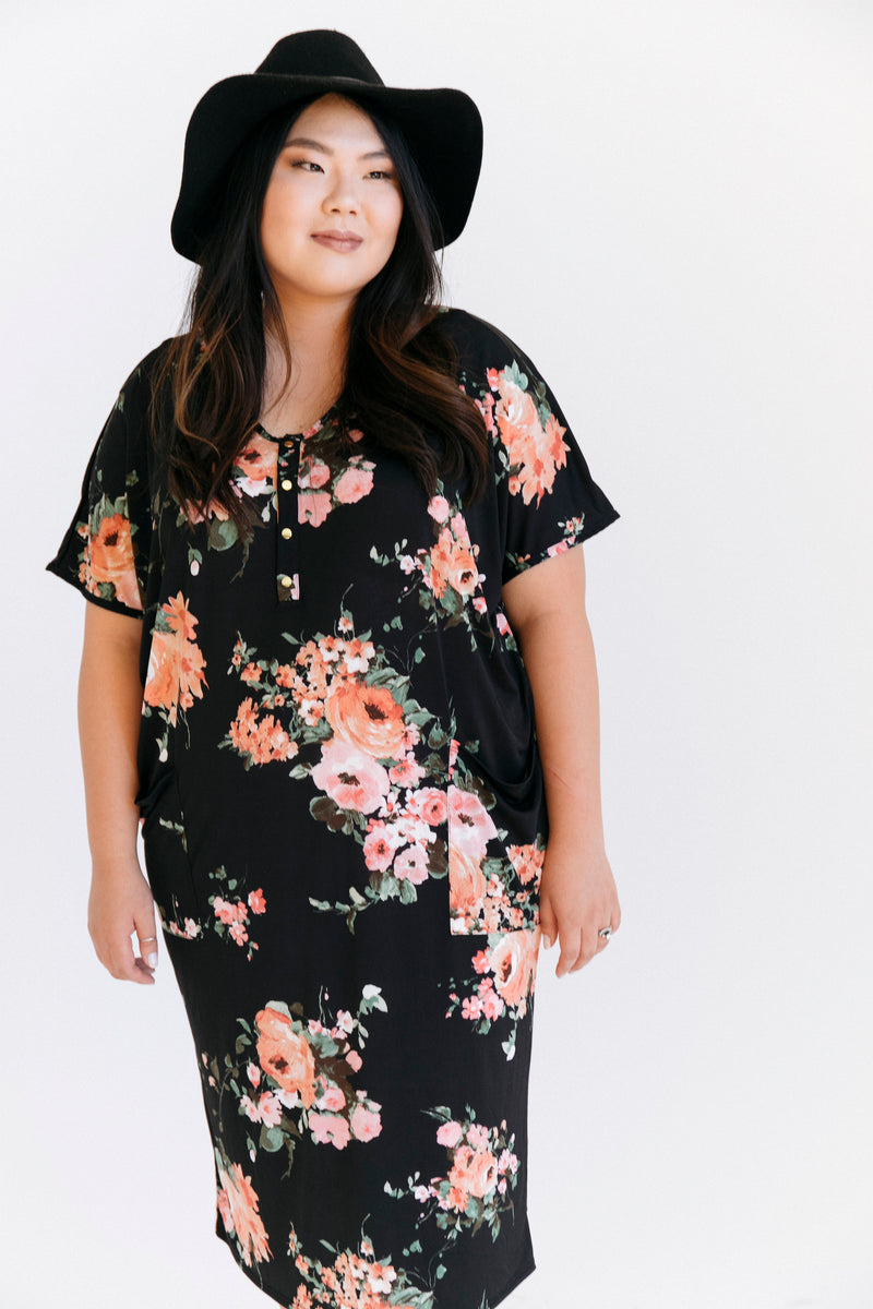 Lettie | COCOON - Dwell and Slumber house dress gold snaps