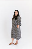 London Stripe | CAFTAN - Dwell and Slumber house dress gold snaps