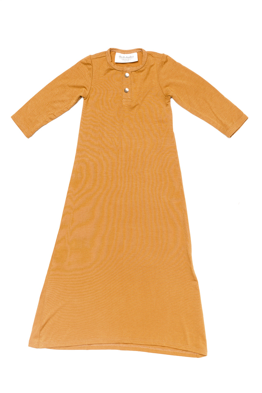Goldenrod | BABY - Dwell and Slumber house dress gold snaps