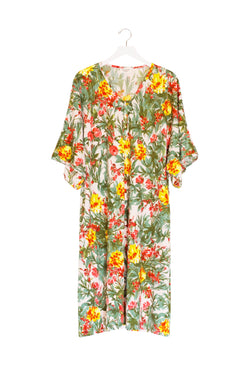 Rae | CAFTAN - Dwell and Slumber house dress gold snaps