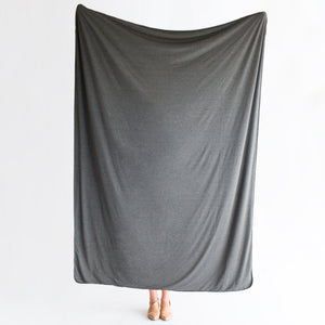 Charcoal | BLANKET - Dwell and Slumber house dress gold snaps