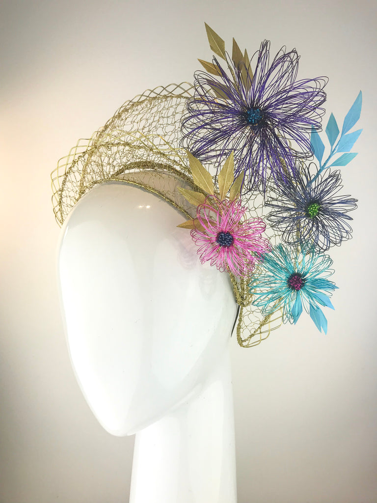 Helaina Crown with Wire Flowers SOLD