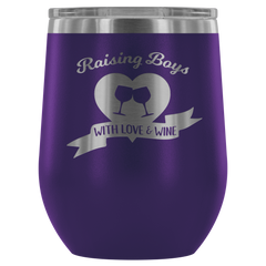 Raising Boys with Love & Wine - Wine Tumbler
