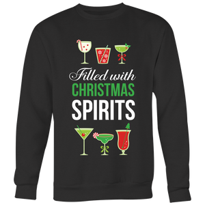 Filled With Christmas Spirits - Crewneck Sweatshirt - Lushy Wino