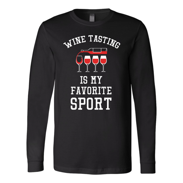 Wine Tasting Is My Favorite Sport - Long Sleeve - Lushy Wino
