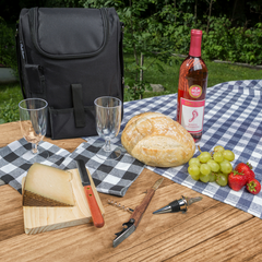 Plush Picnic Insulated Wine & Cheese Tote Bag Set - Lushy Wino