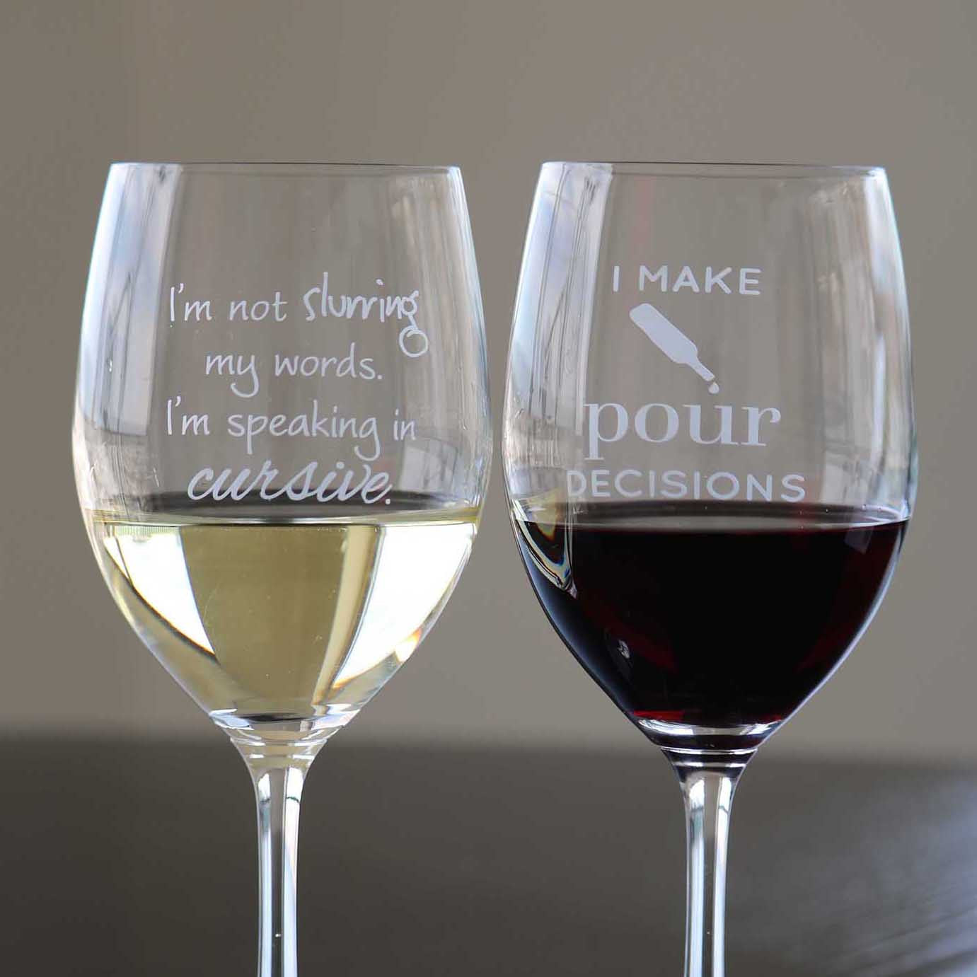 Wine Glass Pairings Set - 2 Glasses!