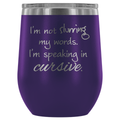 Insulated 12 oz Wine Tumbler - Purple