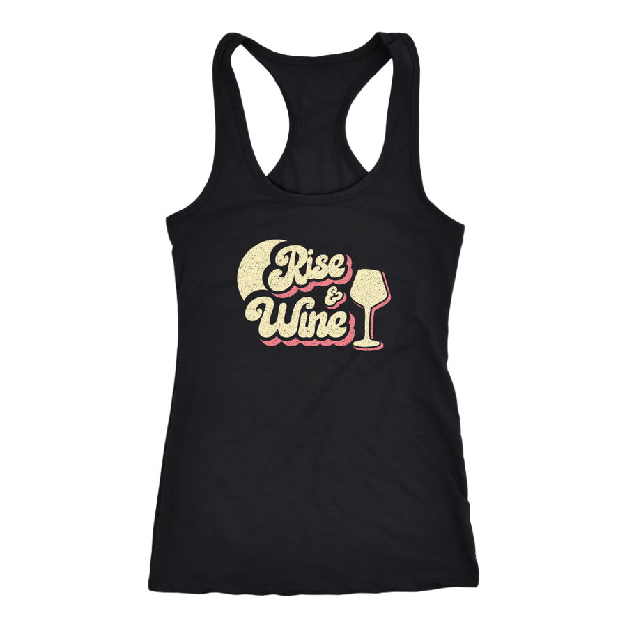 Rise & Wine - Tank Top - Lushy Wino