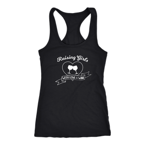 Raising Girls With Love & Wine - Tank Top - Lushy Wino