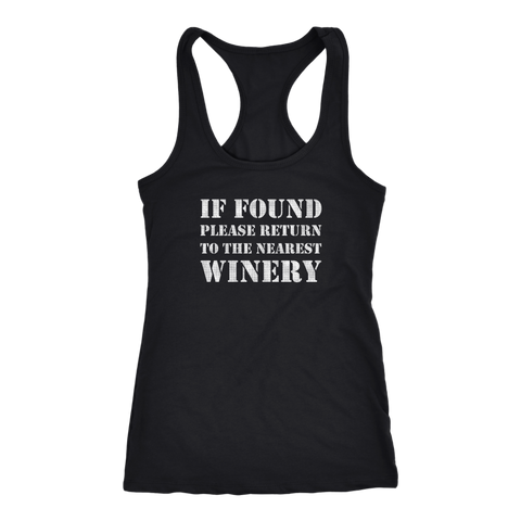If Found Please Return to the Nearest Winery - Tank Top