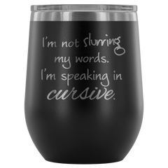 Insulated 12 oz Wine Tumbler - Matte Black