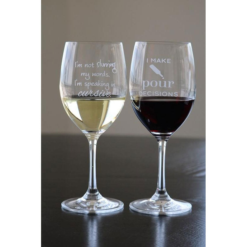 Wine Glass Pairings Set - 2 Glasses! - Lushy Wino