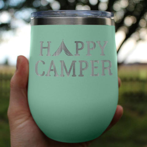 Happy Camper - Wine Tumbler