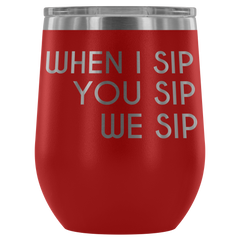 Insulated 12 oz Wine Tumbler - Red