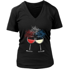 Cheers to Freedom - V-Neck Tee