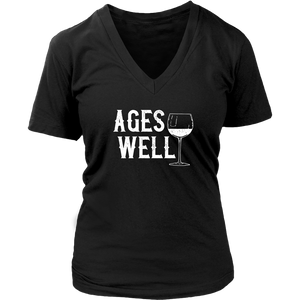 Ages Well - V-Neck Tee - Lushy Wino