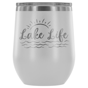 Lake Life - Wine Tumbler - Lushy Wino