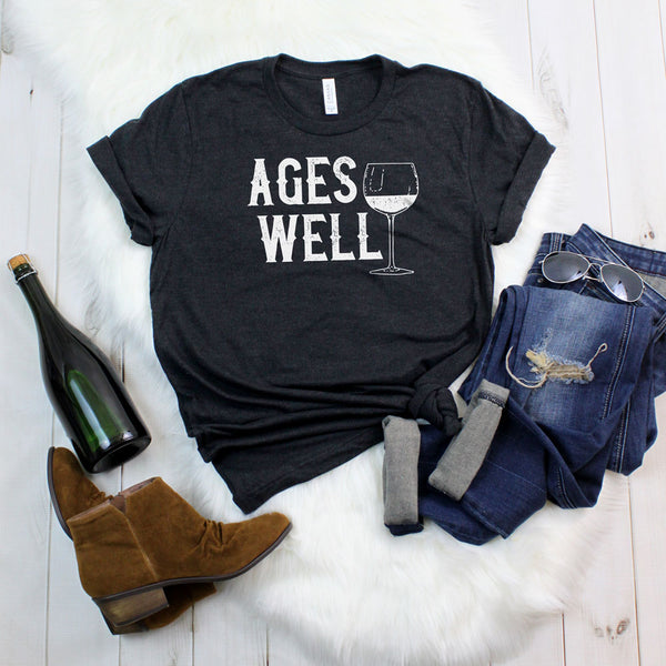 Ages Well - Classic Tee - Lushy Wino