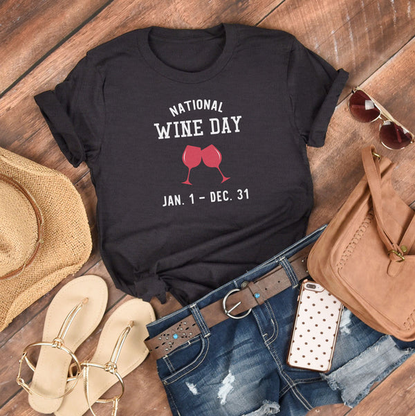 National Wine Day - Classic Tee - Lushy Wino