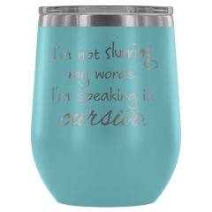 Insulated 12 oz Wine Tumbler - Powder Blue