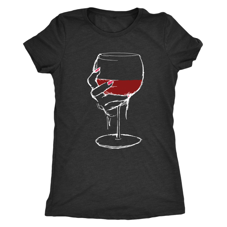 Large Glass of Bold Red Wine - Classic Tee - Lushy Wino