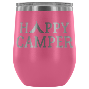 Happy Camper - Wine Tumbler - Lushy Wino