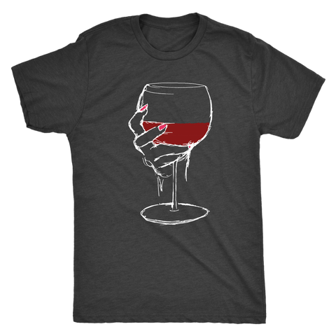 Large Glass of Bold Red Wine - Classic Tee
