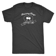 Raising Boys With Love & Wine - Classic Tee - Lushy Wino