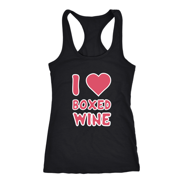 I Heart Boxed Wine - Tank Top - Lushy Wino