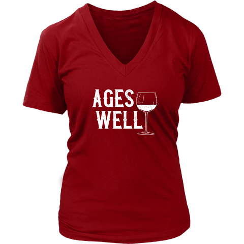 Ages Well - V-Neck Tee