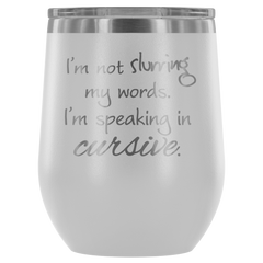 Insulated 12 oz Wine Tumbler - White