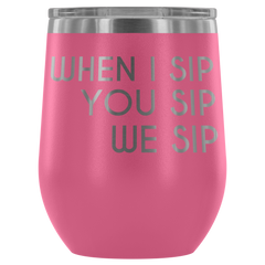 Insulated 12 oz Wine Tumbler - Rose Pink
