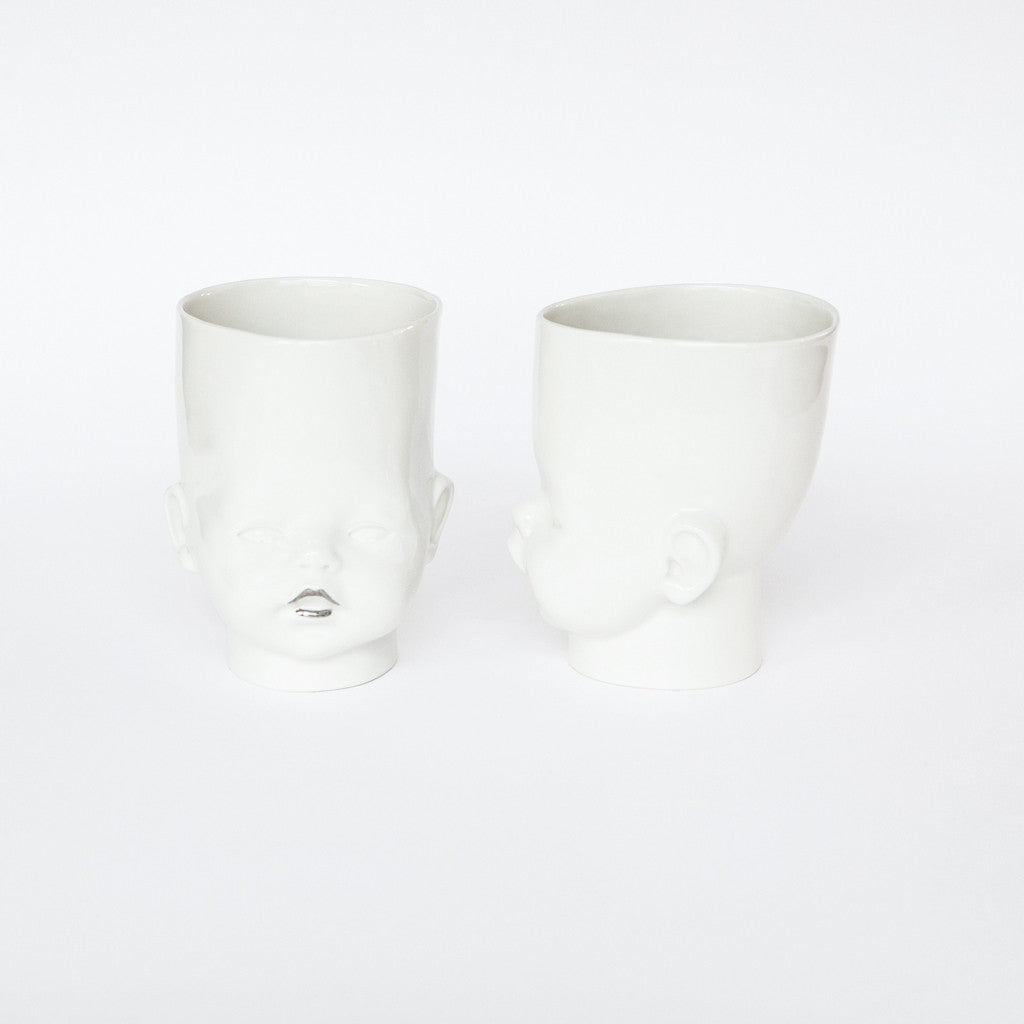"""OH Baby!"" vase/cup platinum"
