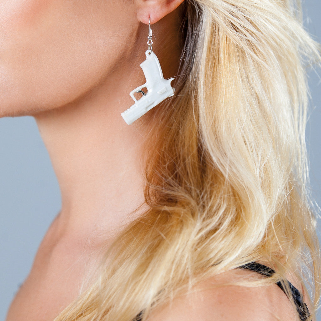 "Earrings ""Bang!"" platinum trigger"