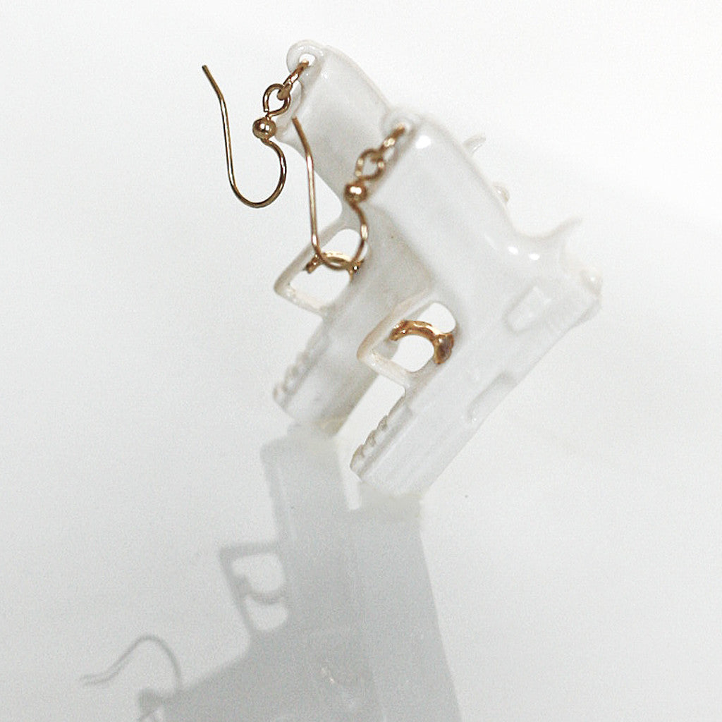 "Earrings ""Bang!"" golden trigger"