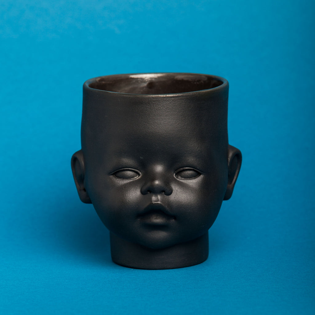 """OH Baby!"" CANDLE black with gold"