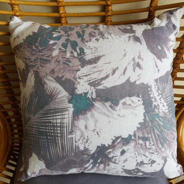 Ocean Palm Cushion Cover