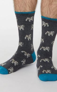 Mens Bulldog Bamboo Socks