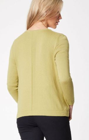 Essential Organic Cotton & Wool Cardi - Moss Green
