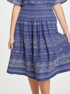 Organic Cotton Embroid Skirt