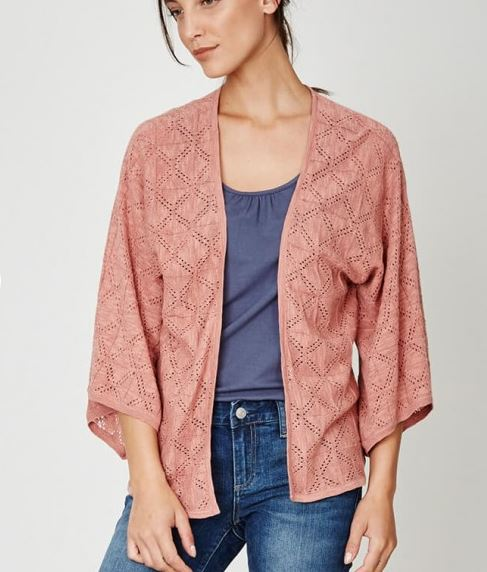 Organic Cotton Cardi - Terracotta